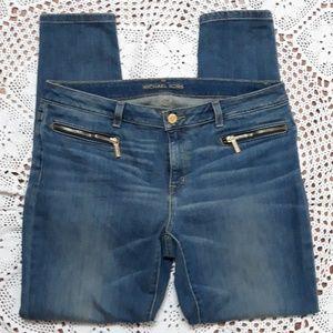 Michael Kors Izzy skinny zipper stretch jeans